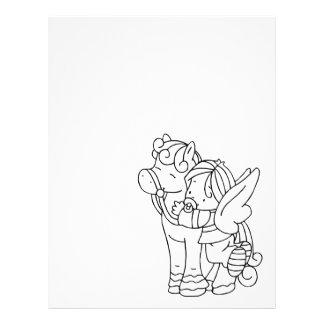 Color Me Angel Baby Pony Hug Me Letterhead