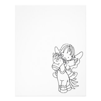 Color Me Angel Baby Pony I Can Fly Letterhead