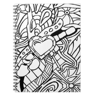 Color Me Black and White Three Spiral Notebook
