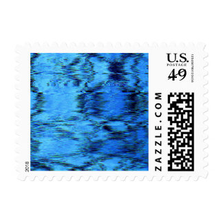 COLOR ME BLUE (an abstract art design) ~.jpg Postage