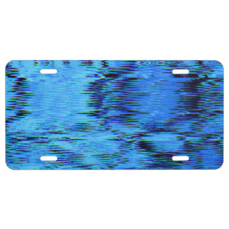 COLOR ME BLUE (an abstract art design) ~ License Plate