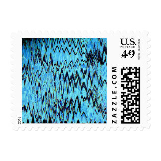 COLOR ME BLUE TOO TILE (an abstract art design) ~. Postage Stamp