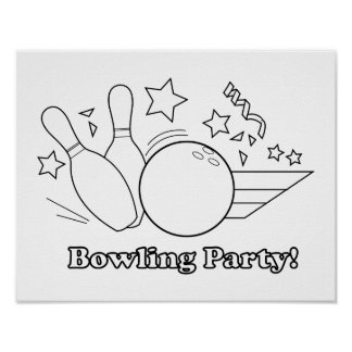 Color Me: Bowling Party Poster