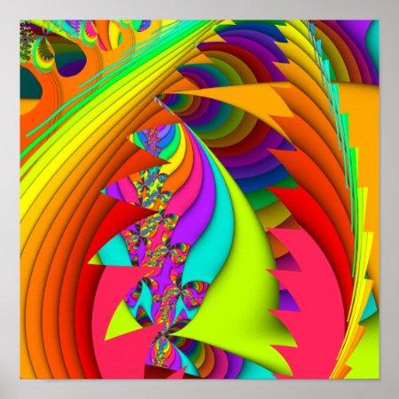 Color Me Bright #3 Fractal Poster