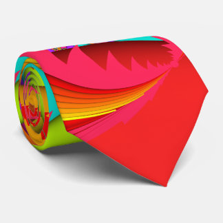 Color Me Bright Fractal Double-sided Tie