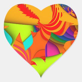 Color Me Bright Heart Sticker
