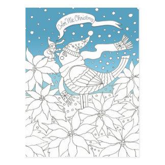Color Me Christmas Coloring Book Art Postcard