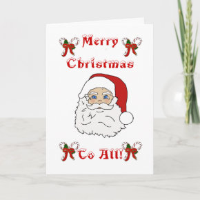 Color Me Christmas Greeting Card card
