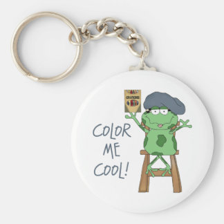 Color Me Cool Kids Art Gift Basic Round Button Keychain