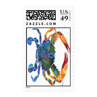 Color Me Crab E Postage