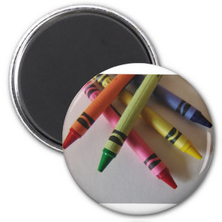 Color Me Crayons 2 Inch Round Magnet