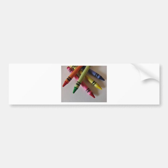 Color Me Crayons Bumper Sticker