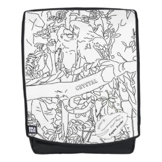 Color Me Cute Macaw Parrots Monogrammed Backpack