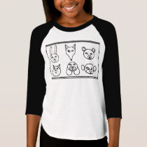 Color Me Designs by Feralartist - Emoji Animals T T-Shirt