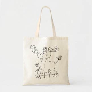 Color Me Donkey and Bird Budget Tote Bag