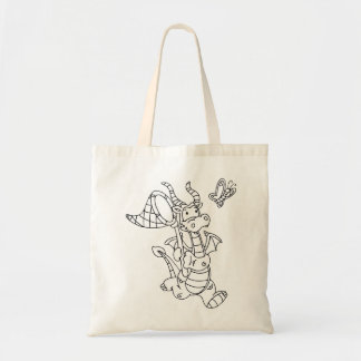 Color Me Dragon and Butterfly Net Tote Bag