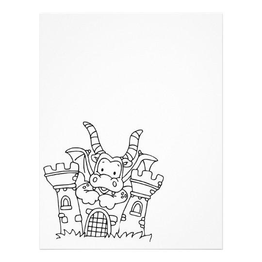 Color Me Dragon and Castle Letterhead