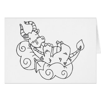 Color Me Dragon Nap Card