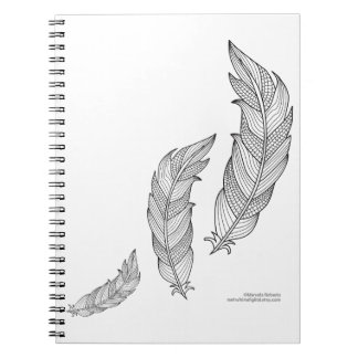 Color Me Feathers Fall Zen Doodle Illustration Notebook