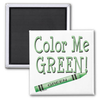 Color me green 2 inch square magnet