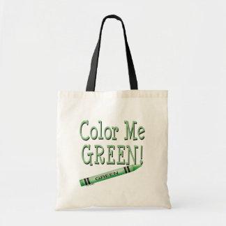 Color me green budget tote bag