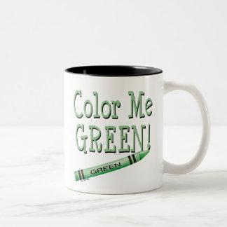 Color me green coffee mug