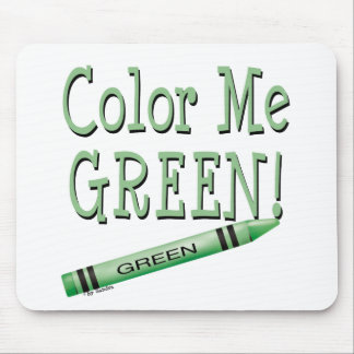 Color me green mouse pad