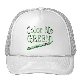 Color me green trucker hat