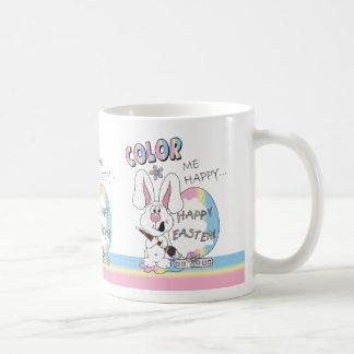 Color Me Happy Easter Bunny Coffee Mug