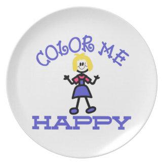 Color Me Happy Melamine Plate