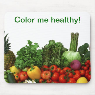 Color me healthy! mouse pad