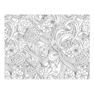 Color Me In B4 Giving Camellia•Custom Postcard