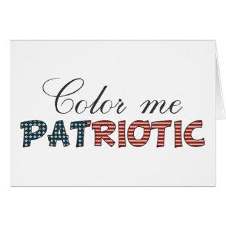 Color Me Patriotic Card