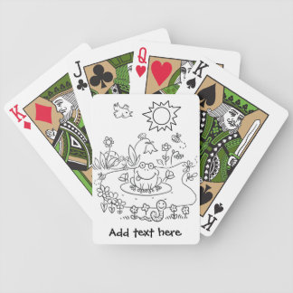 Color Me Pond Life DIY Bicycle Playing Cards