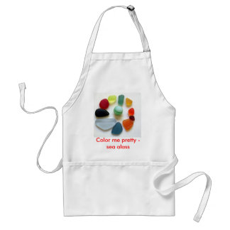 Color me pretty - sea glass adult apron