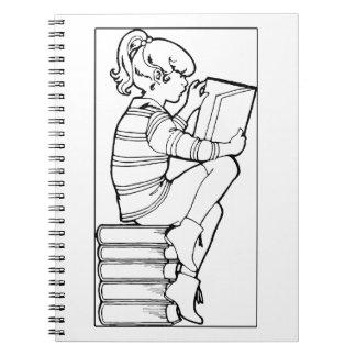 Color Me Reading Spiral Notebook