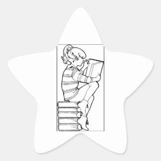 Color Me Reading Star Sticker