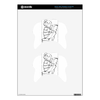 Color Me Reading Xbox 360 Controller Decal