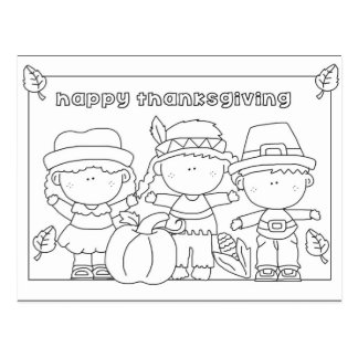 Color me Thanksgiving postcard