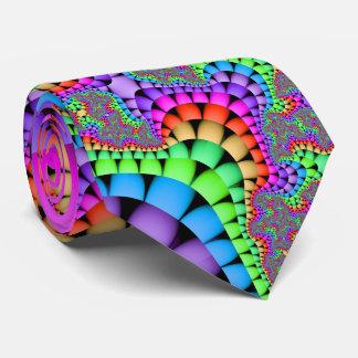 Color Medley Fractal Tie