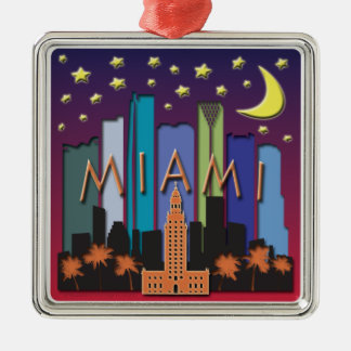 Color mega del horizonte de Miami Adorno Para Reyes