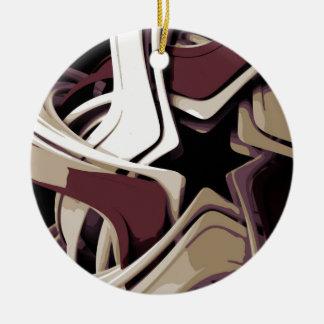 Color Melted Star Ceramic Ornament