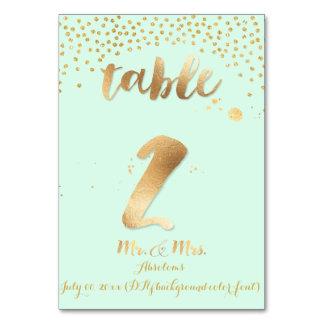 Color/menta de la tabla 2/gold sprinkles/DIY de