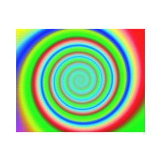 Color Mesh 7 Swirl Canvas