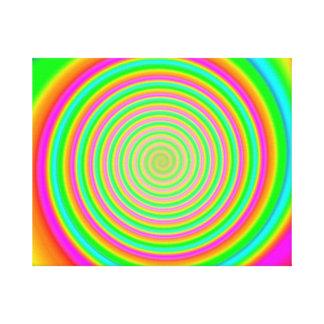 Color Mesh Swirl 9 Canvas