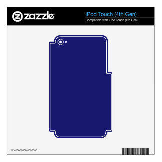 color midnightblue skins for iPod touch 4G