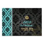 """Color/Mitzvah de Vendome Damask/DIY del rsvp de Invitación 3.5"""" X 5"""""""