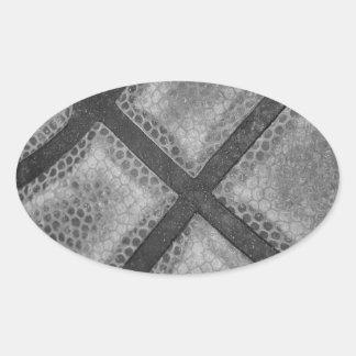 Color monocromático del personalizado del pegatina ovalada