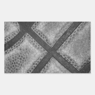 Color monocromático del personalizado del pegatina rectangular