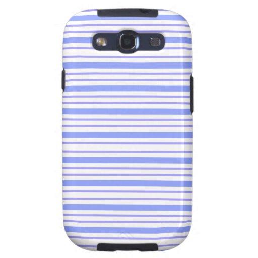 Color Morado de Horizontales de los lineas de Lind Galaxy S3 Protector